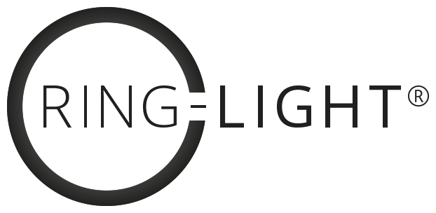 Ring Light / Ring Ljus Sverige Svart Logo